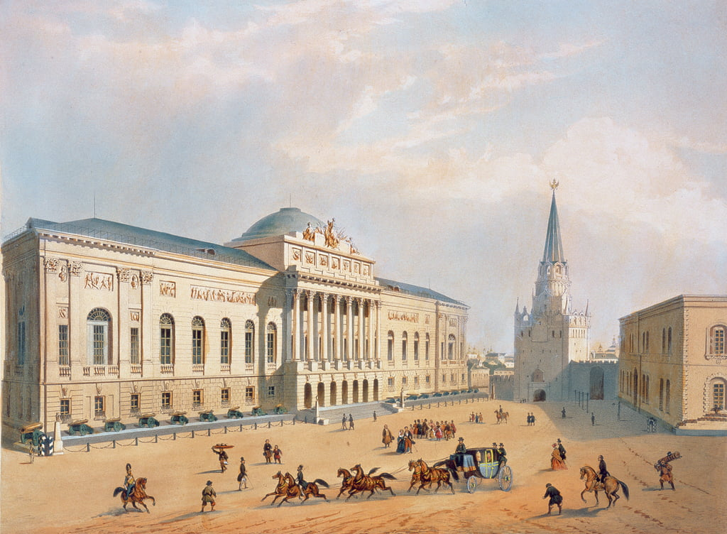 The Armoury Chamber in the Moscow Kremlin, 1840s  by I. Chevalier