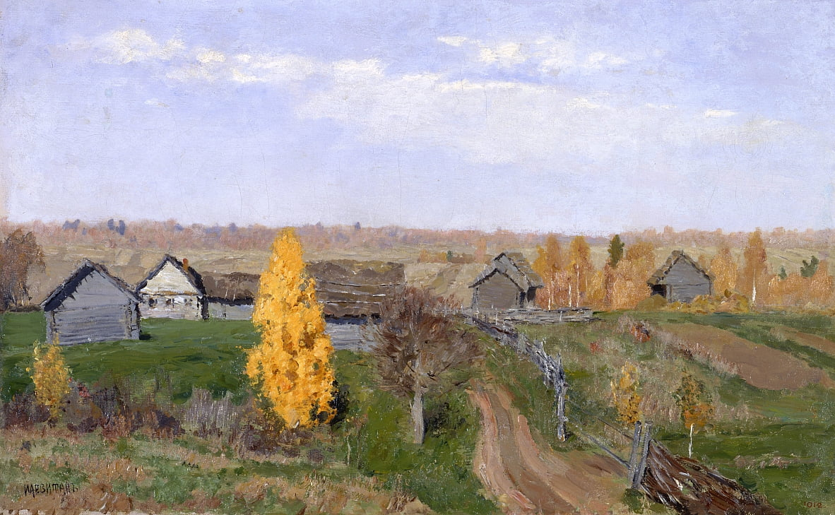 Golden autumn. Slobodka by Isaak Ilyich Levitan