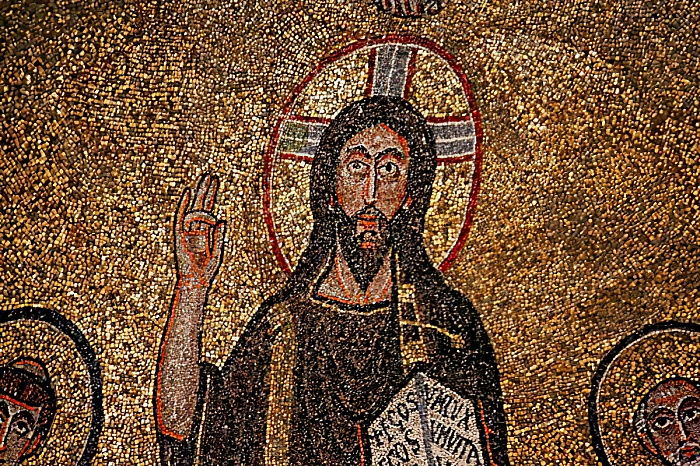 Apse detail with Christ (mosaic) by Italian School