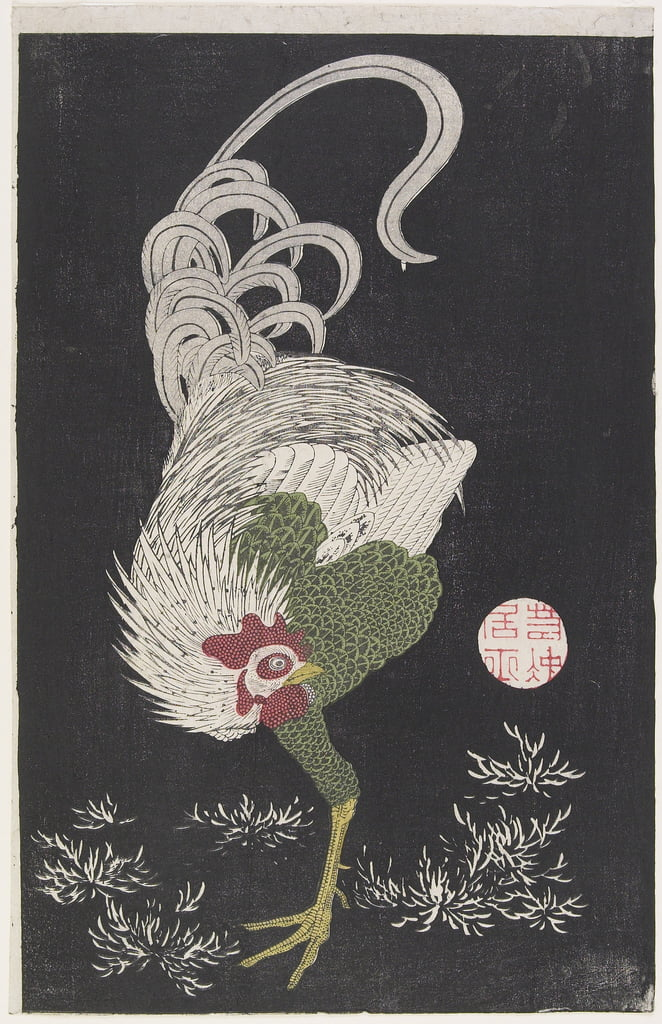 (Rooster) by Ito Jakuchu