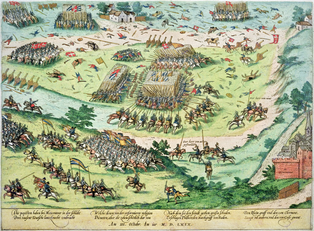 The Battle of Moncontour, 3rd October 1569  by J. J. and Tortorel, J. Perrissin