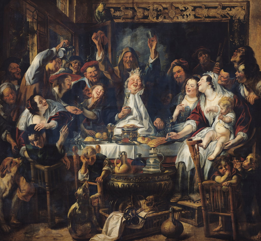 The King is Drinking  by Jacob Jordaens