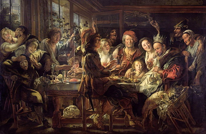 The Bean Feast (The King Drinks) 1637-38  by Jacob Jordaens
