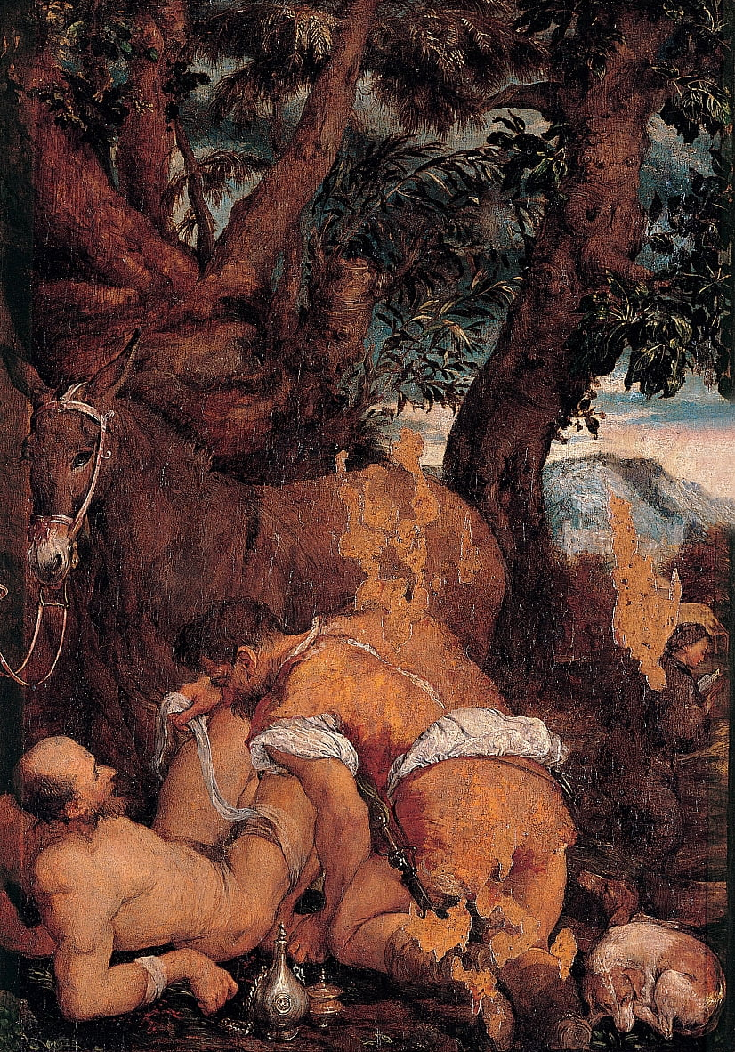 The good Samaritan by Jacopo Bassano