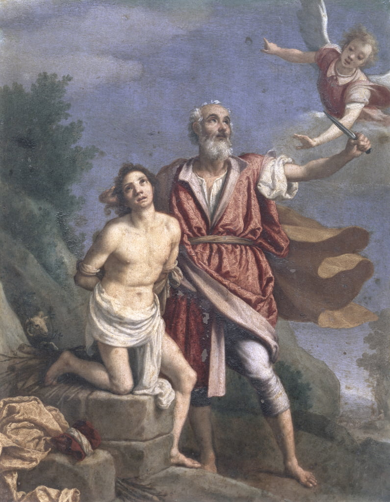 The Sacrifice of Isaac (oil on copper) by Jacopo Chimenti Empoli