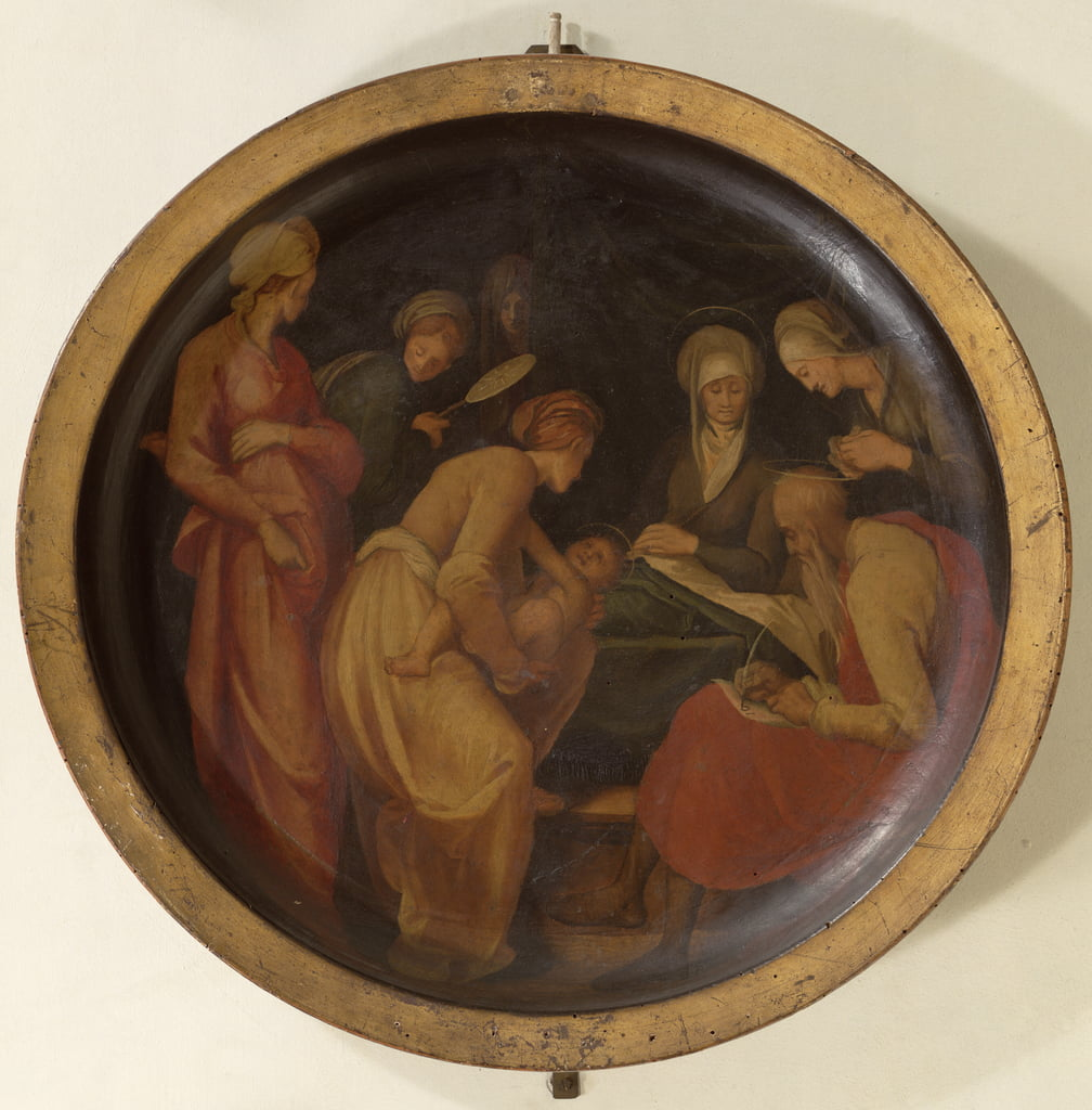 The Birth of St. John the Baptist, c.1526  by Jacopo Pontormo