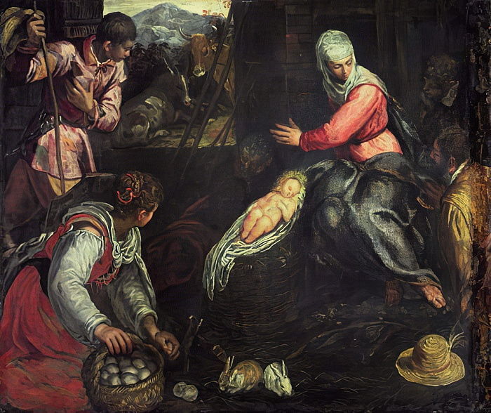 The Adoration of the Shepherds, c.1578  by Jacopo Robusti Tintoretto