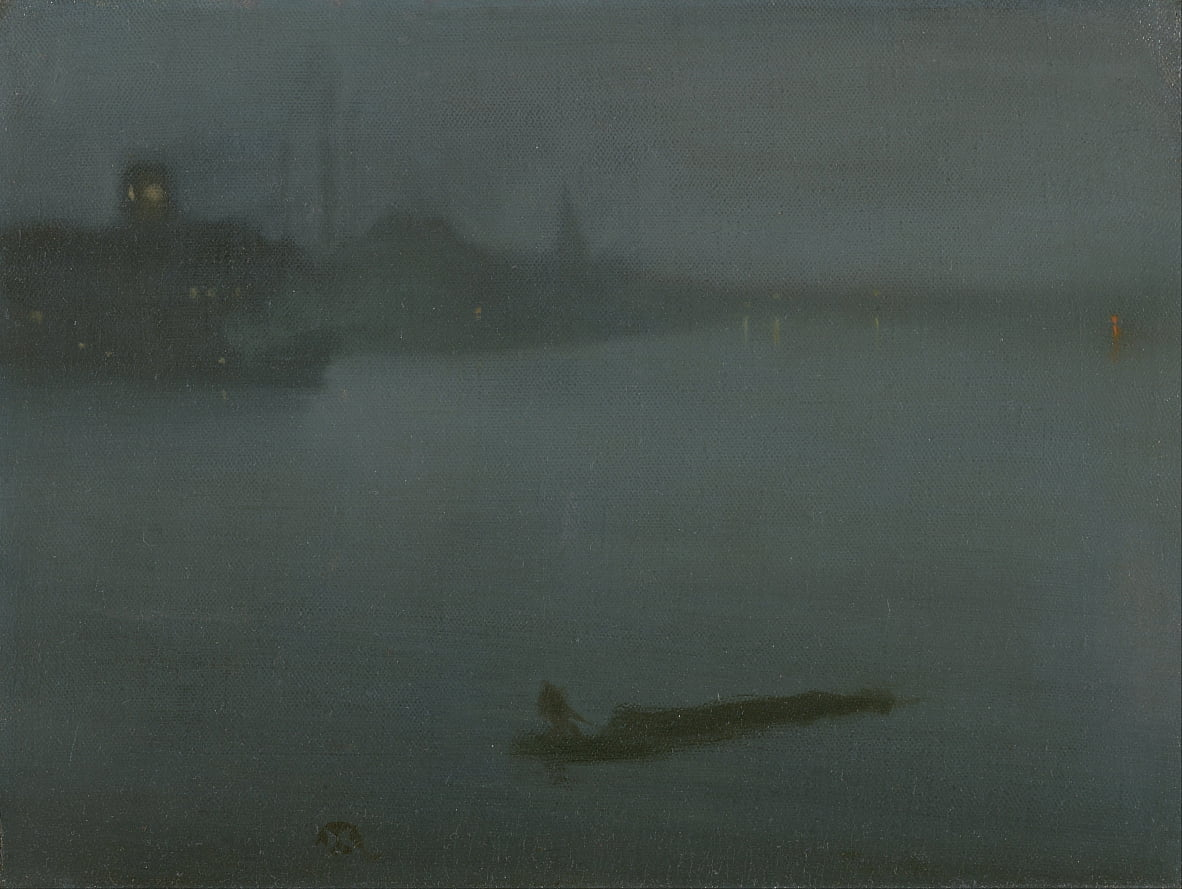 Nocturne in Blue and Silver by James Abbott McNeill Whistler