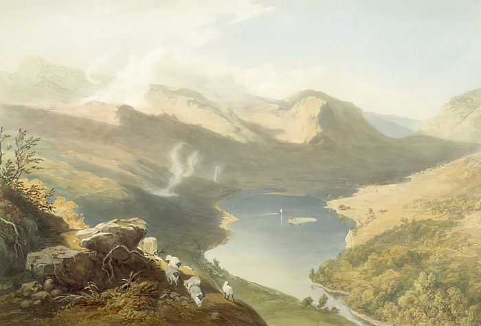 Grasmere from Langdale Fell, from