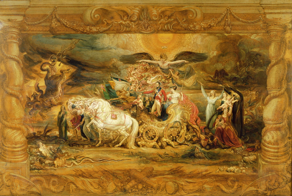 The Triumph of Arthur (1769-1852) Duke of Wellington by James Ward