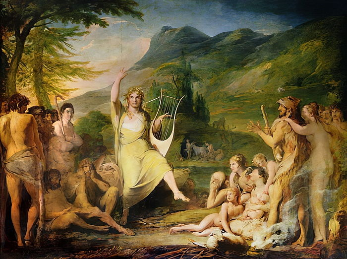 Orpheus, first in series of The Progress of Human Culture and Knowledge, c.1777-84  by James Barry