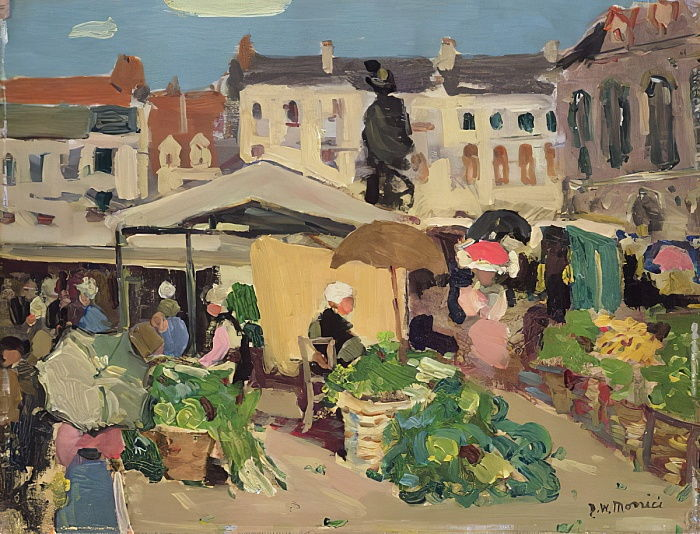 Market Scene  by James Wilson Morrice