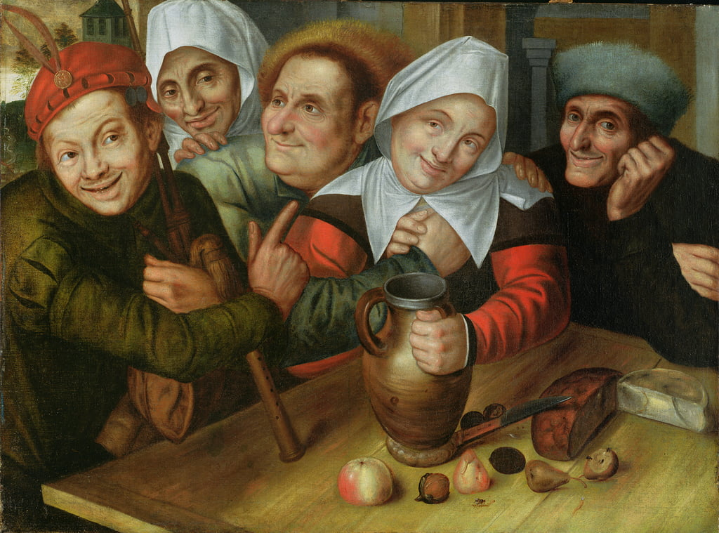 A Merry Company, c.1557  by Jan Massys or Metsys