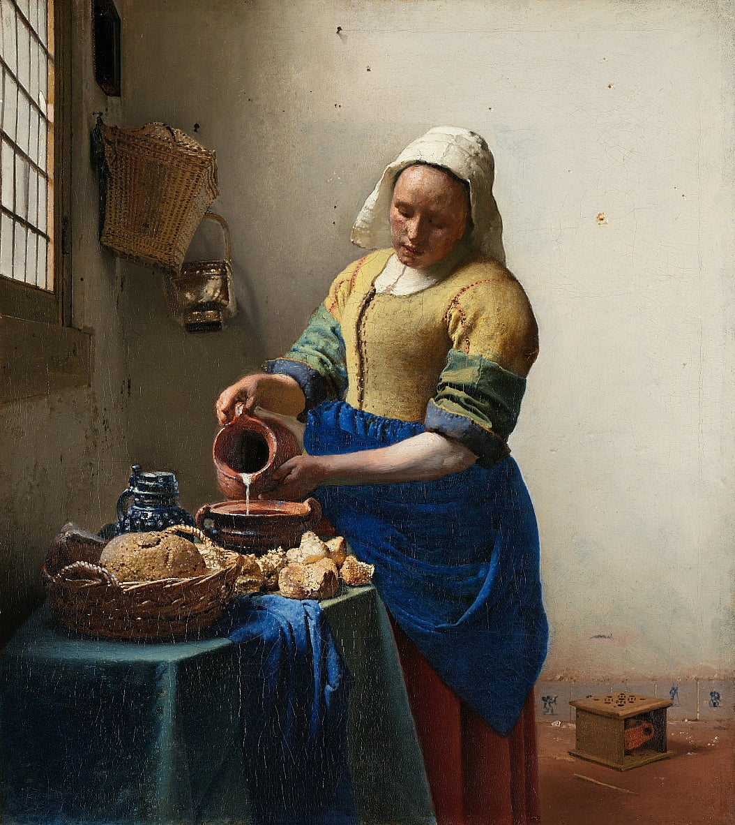 The Milkmaid by Jan Vermeer van Delft