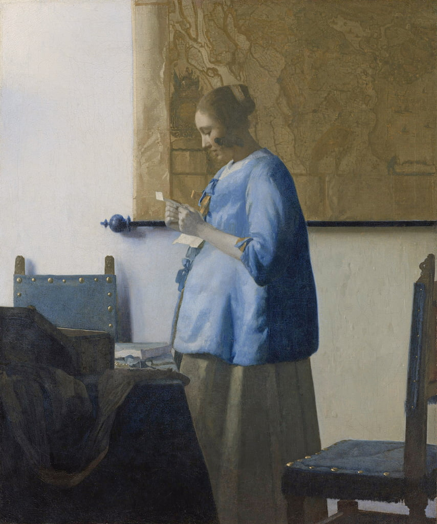 Woman Reading a Letter, c.1662-63  by Jan Vermeer van Delft
