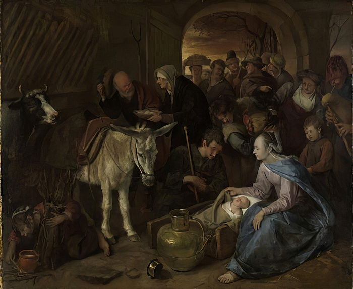 The adoration of the shepherds, 1660-79 by Jan Havickszoon Steen