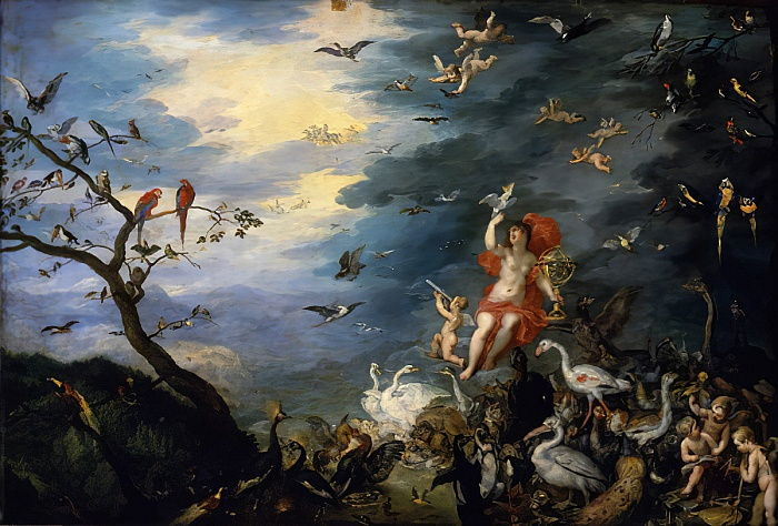 "The Allegory of Air, from a series on the ""Allegory of the Elements"", 1621 by Jan the Elder Brueghel"