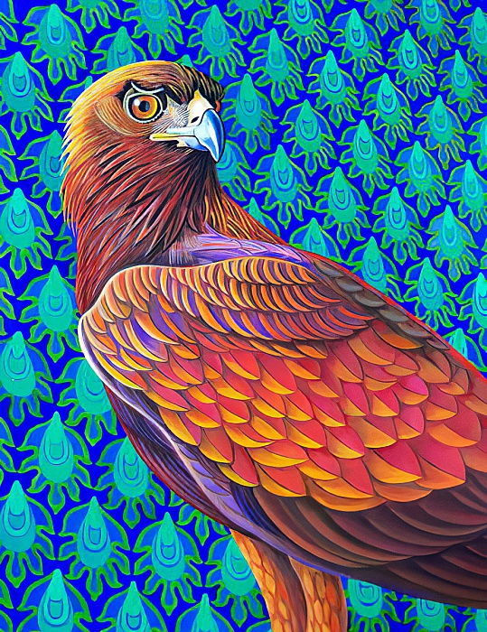 Golden eagle, 2017,  by Jane Tattersfield