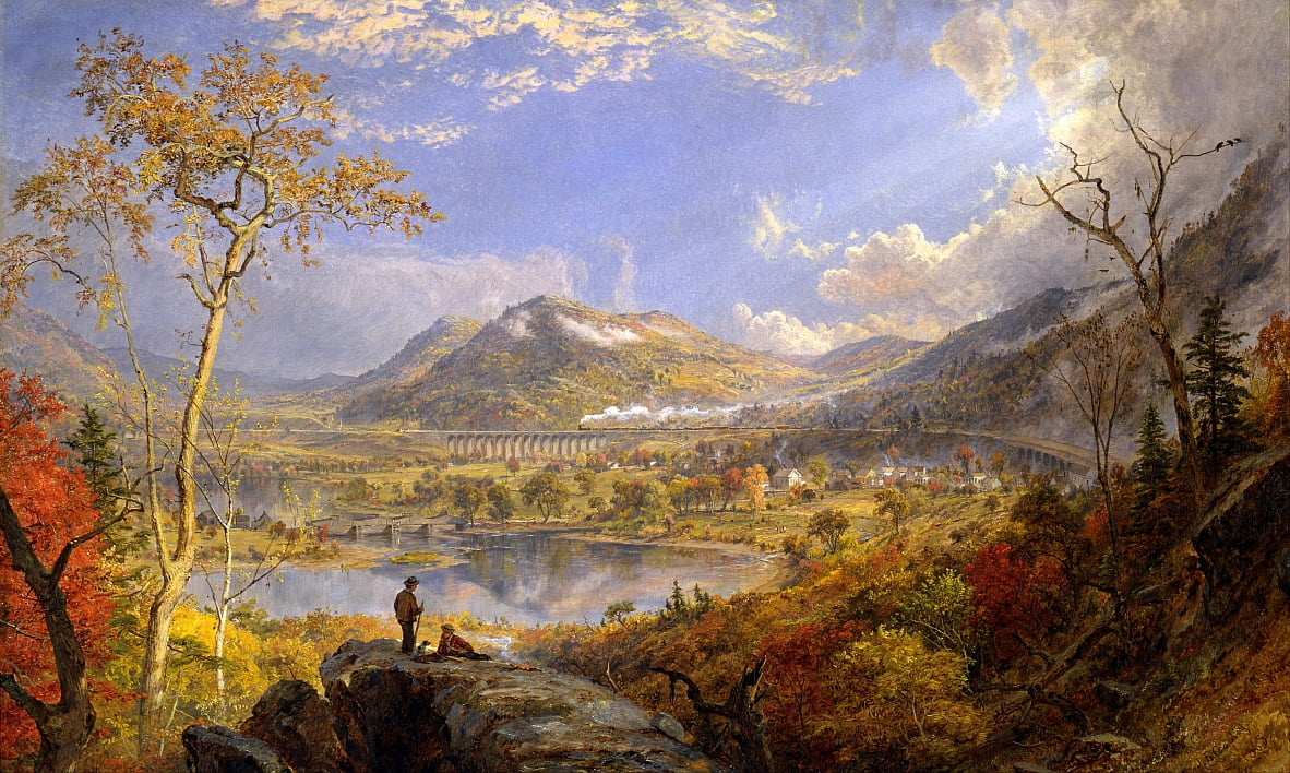 Starrucca Viaduct, Pennsylvania by Jasper Francis Cropsey