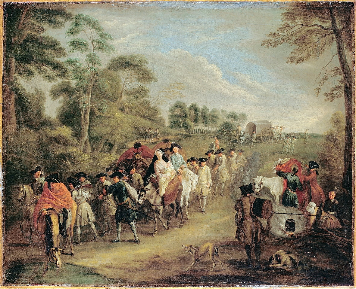 Soldiers on the March by Jean Antoine Watteau