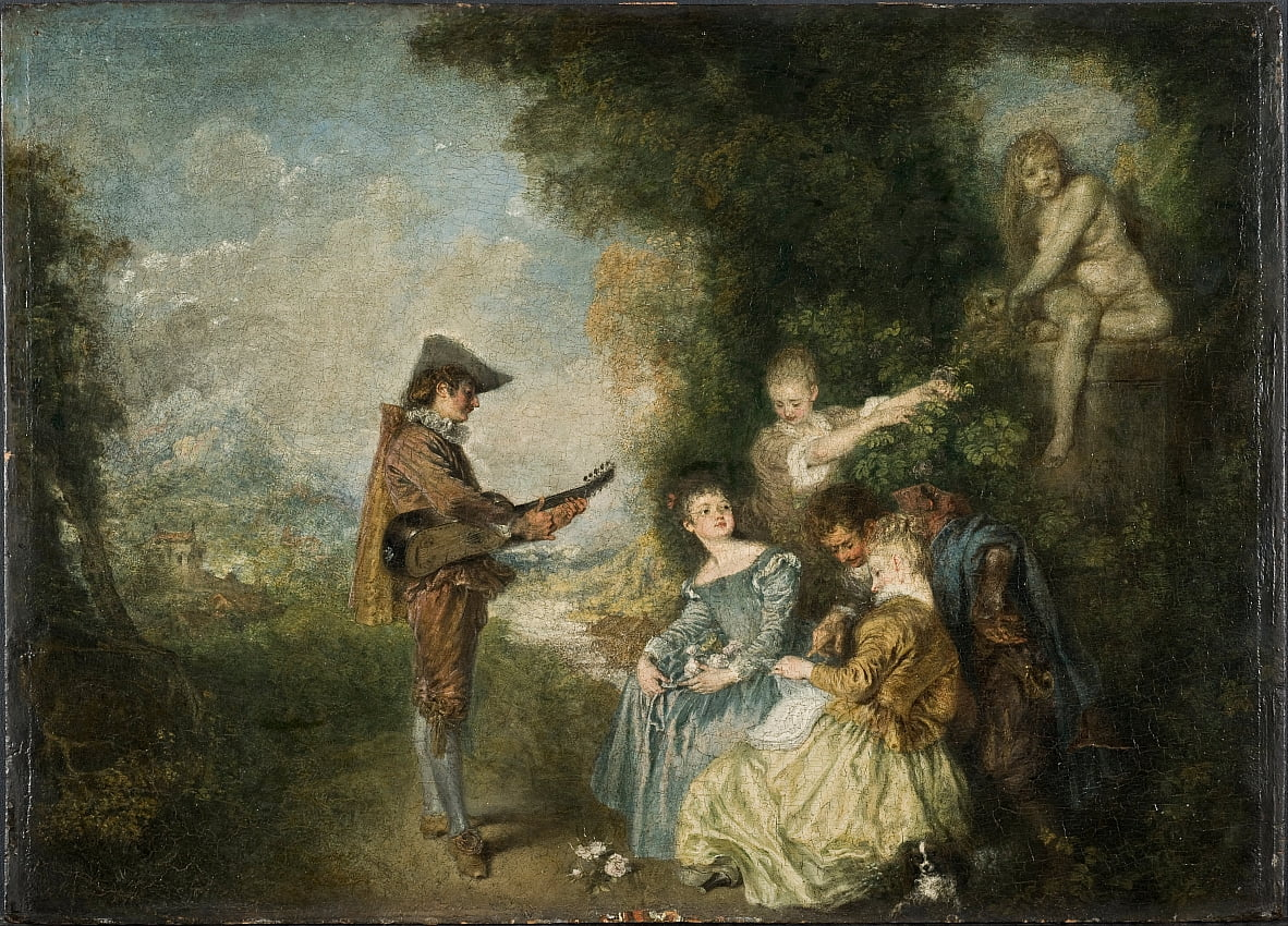 The Love Lesson by Jean Antoine Watteau