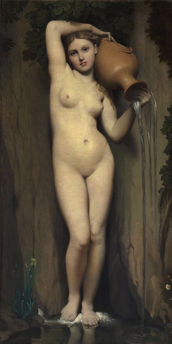 The Spring by Jean Auguste Dominique Ingres
