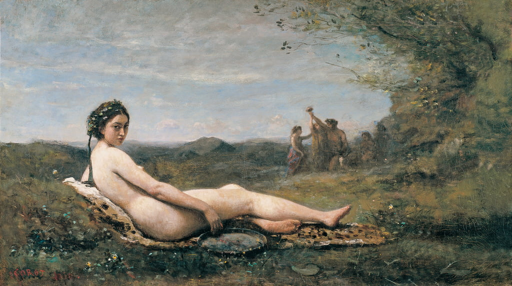 Repose, 1860  by Jean Baptiste Camille Corot