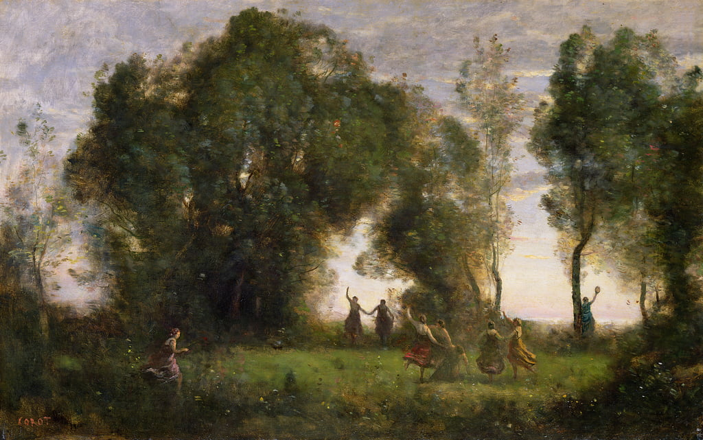 The Dance of the Nymphs  by Jean Baptiste Camille Corot