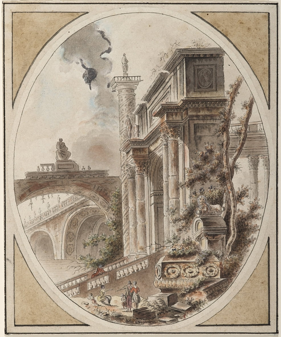 Fantasy of an Architectural Ruin by Jean Henry Alexandre Pernet