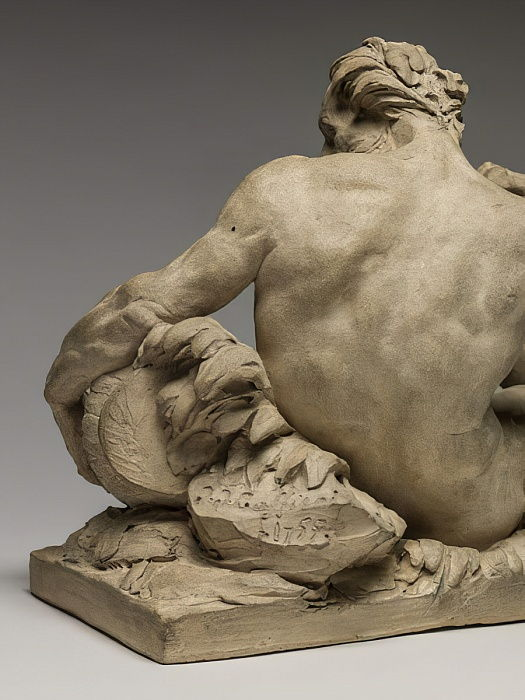 River God, 1755 (terracotta) by Jean Jacques Caffieri