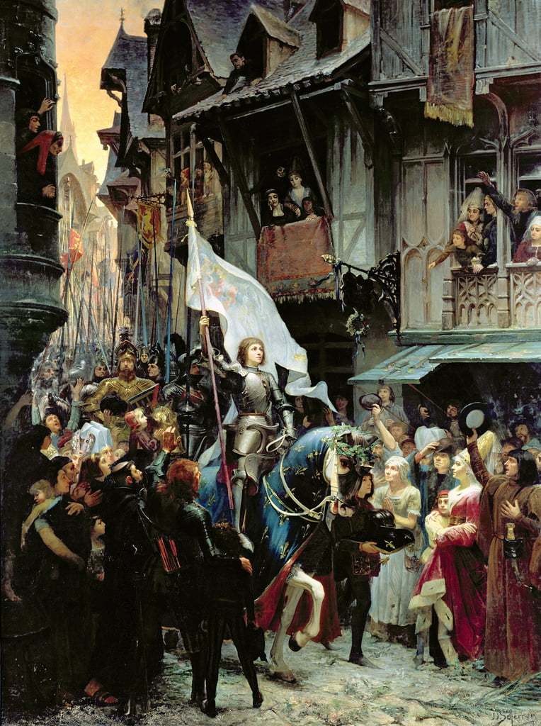 The Entrance of Joan of Arc (1412-31) into Orleans on 8th May 1429  by Jean Jacques Scherrer