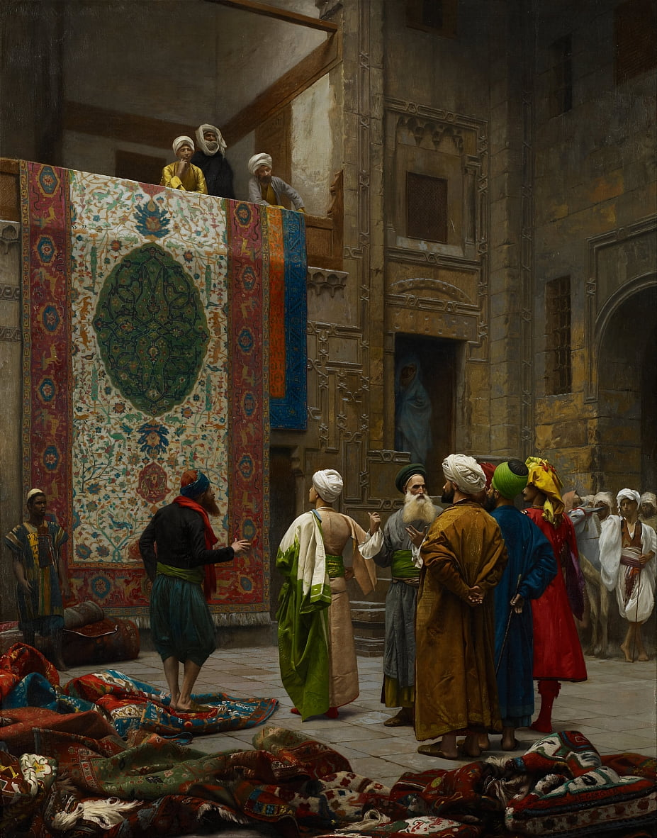 The Carpet Merchant by Jean Leon Gerome