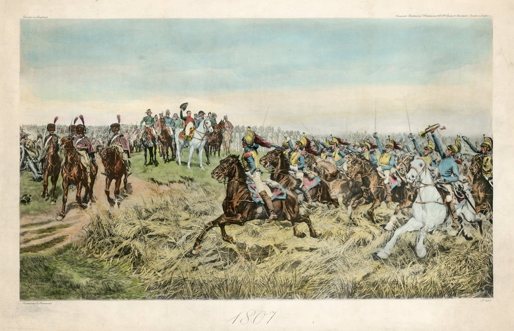 Charge of the French Cuirassiers at Friedland on 14 June 1807  by Jean Louis Ernest Meissonier