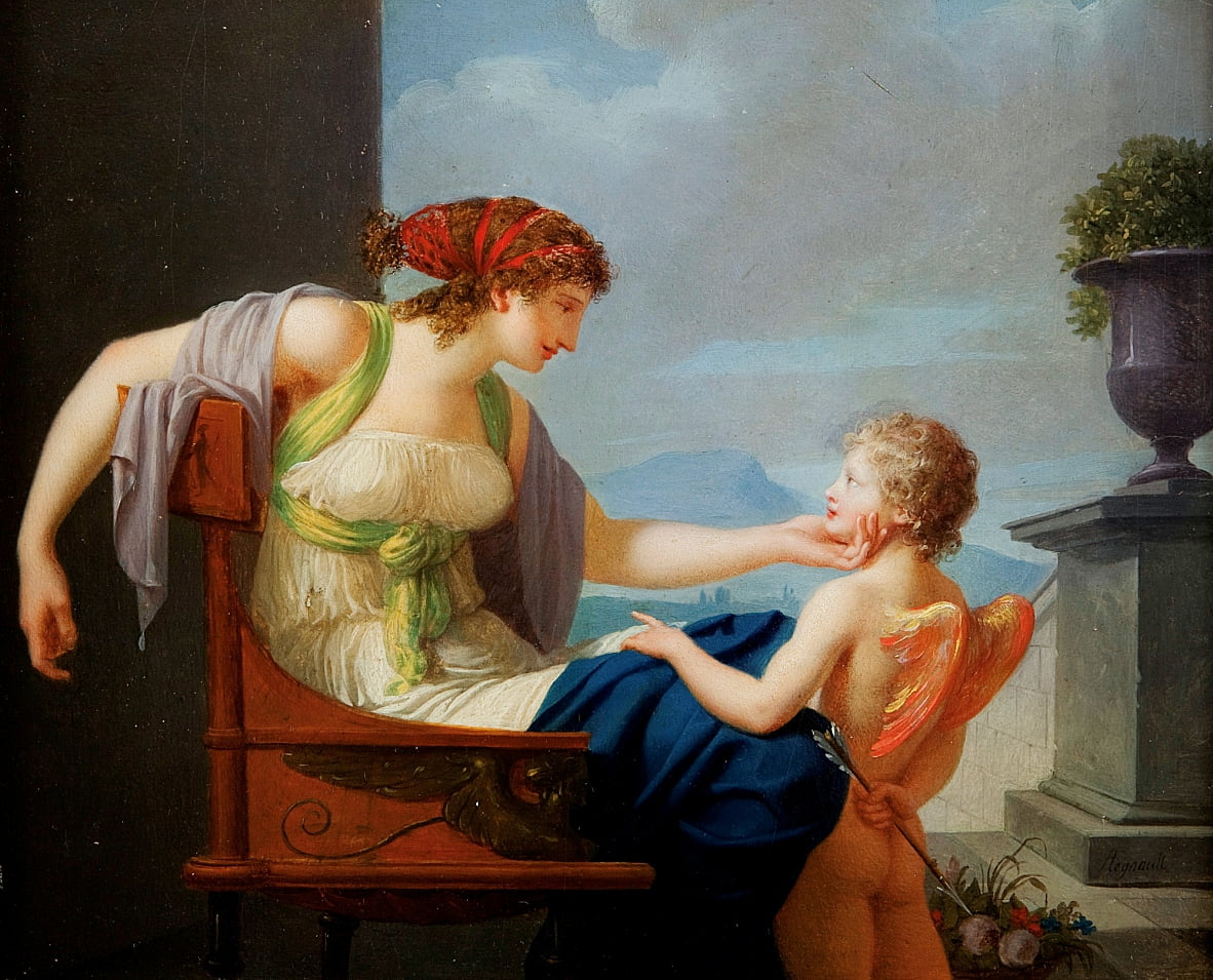Venus and Cupidn by Jean Baptiste Regnault