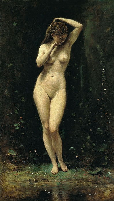 Diana Bathing The Fountain by Jean Baptiste Camille Corot