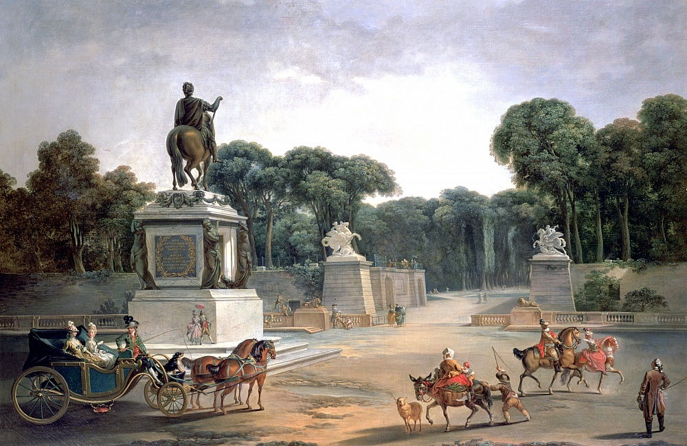 Entrance to the Palace of Louis XV, 1775 by Jean Baptiste Le Prince