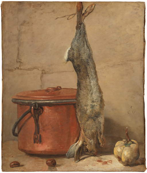 Rabbit and Copper Pot c.1739-40  by Jean Baptiste Simeon Chardin