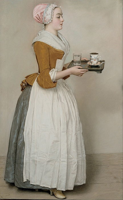 The Chocolate Girl La Belle Chocolatière de Vienne, c. 1745 by Jean Étienne Liotard