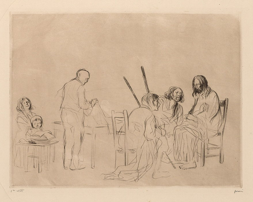 Supper at Emmaus.  by Jean Louis Forain