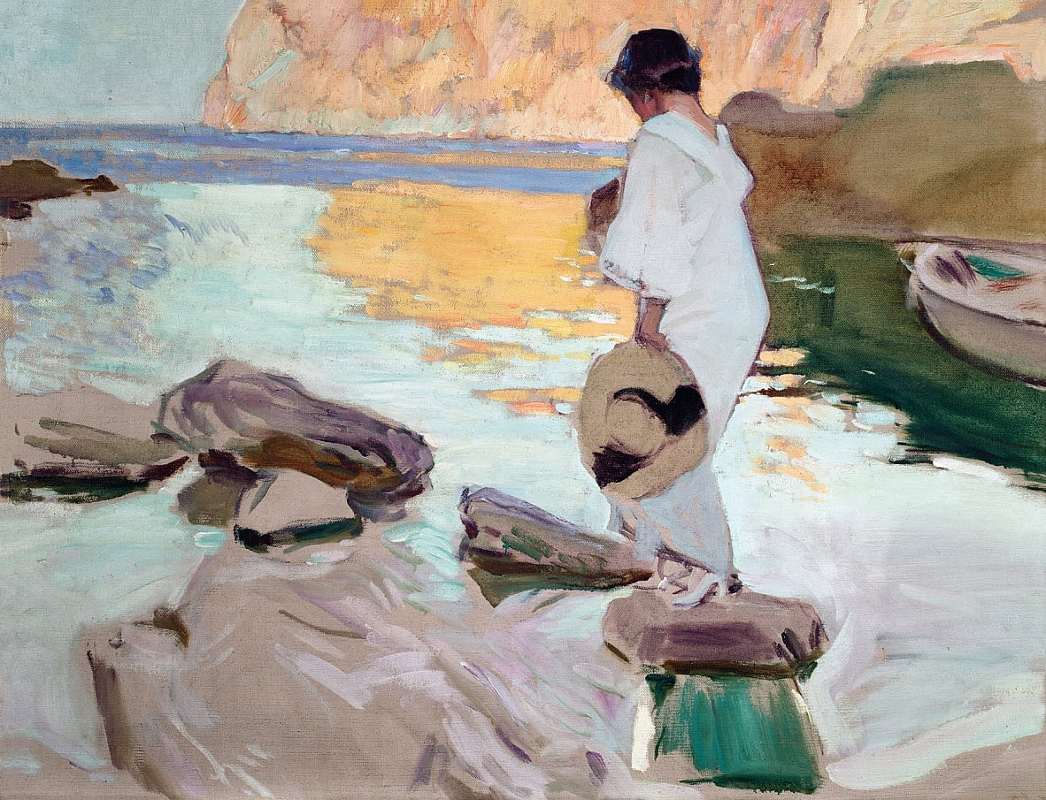 Elena at Cala de San Vicente by Joaquín Sorolla