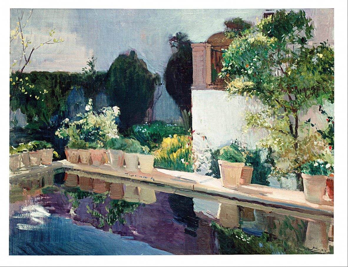 Palace of Pond, Royal Gardens in Seville by Joaquín Sorolla