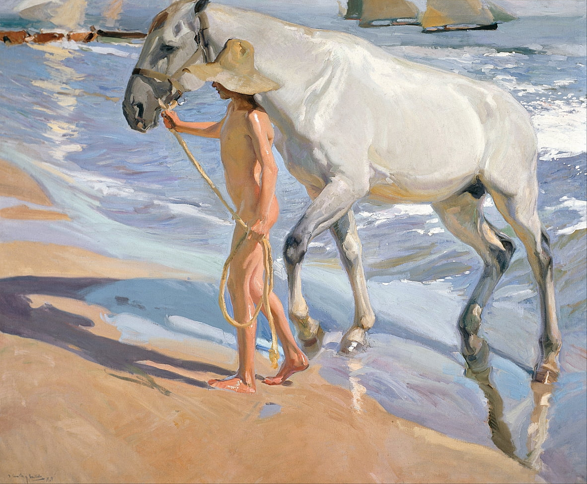 The Horse's Bath by Joaquín Sorolla