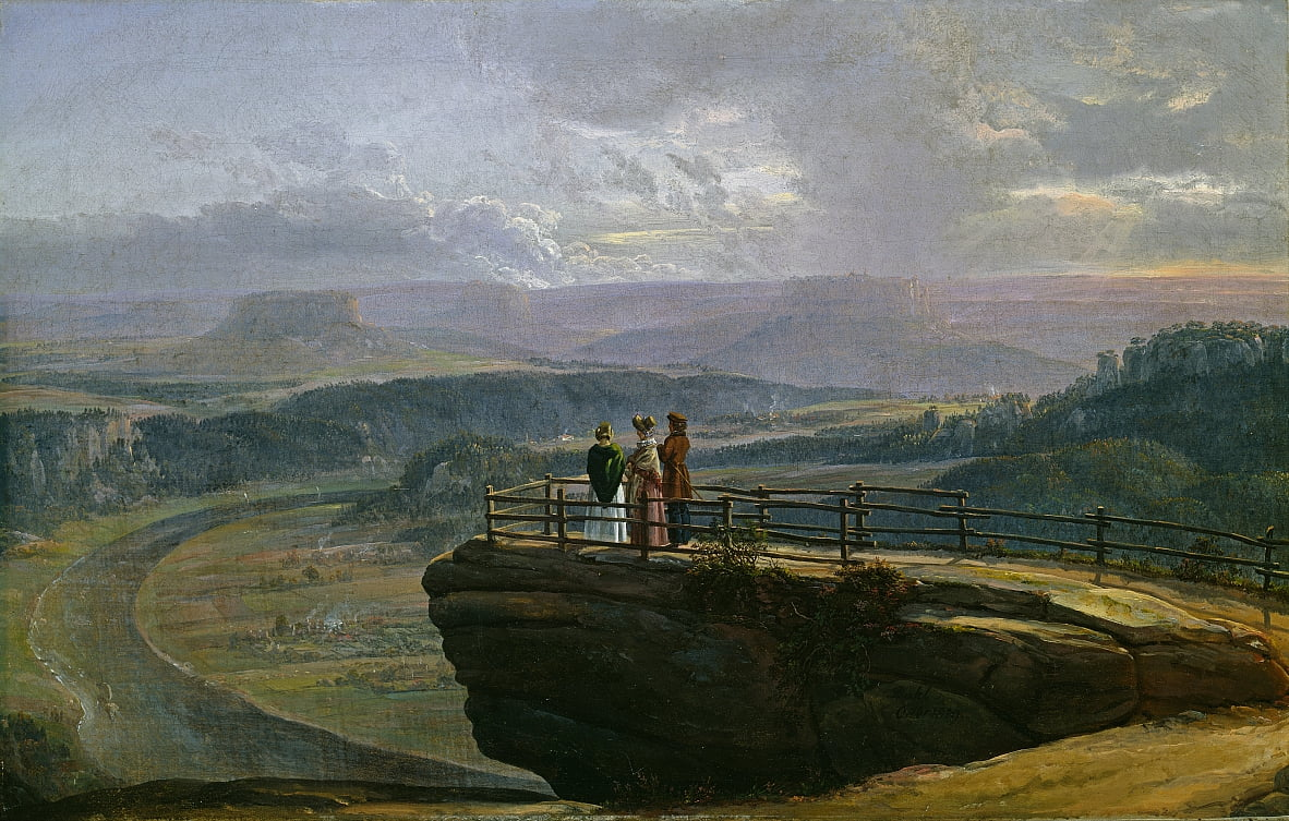 View from Bastei by Johan Christian Dahl