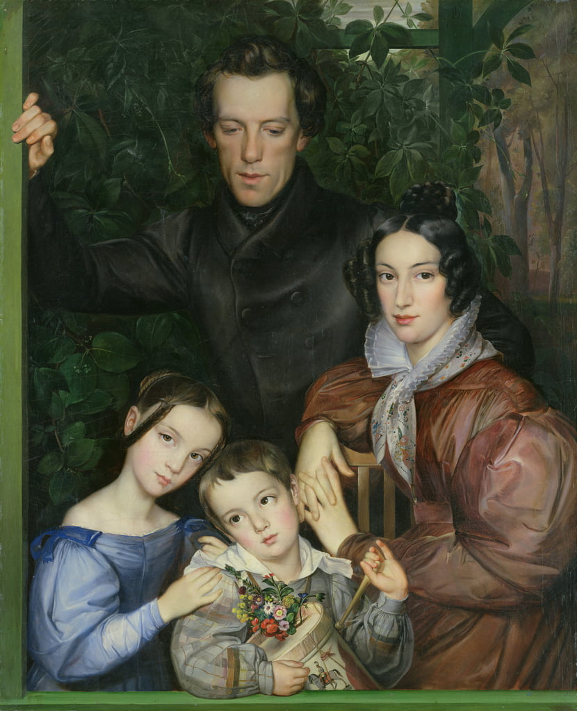 The Rauter Family, 1836  by Johann Friedrich Dieterich