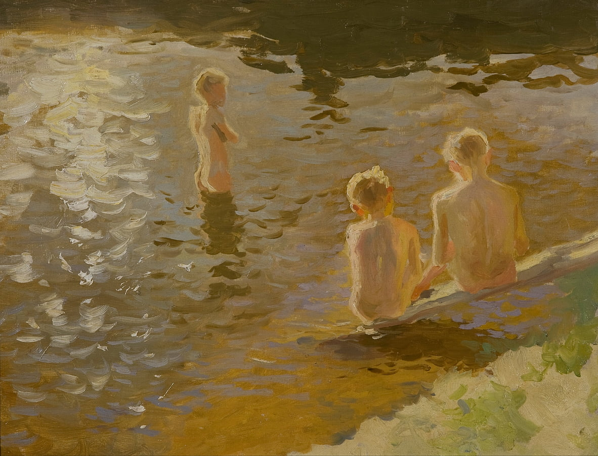 Boys Bathing by Johans Valters