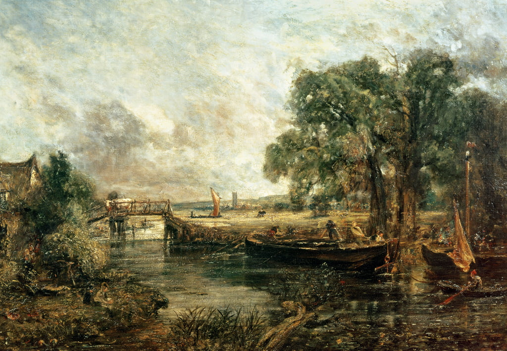 MUSEUM ART PRINT View on the Stour near Dedham John Constable