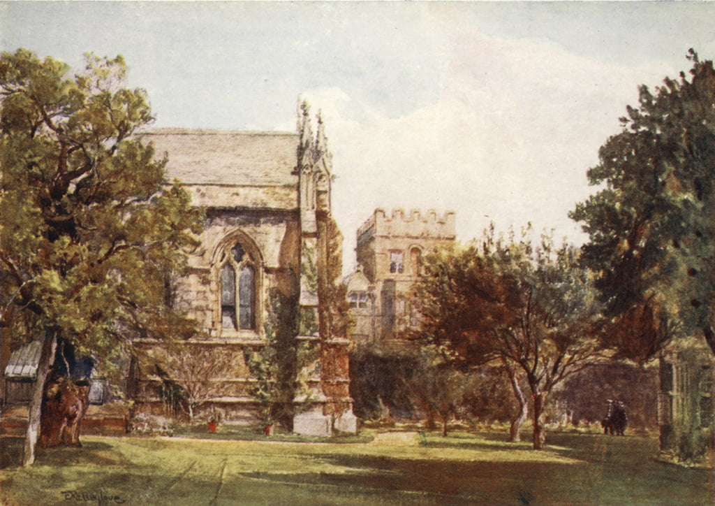 University College, private garden of the Master, 1903  by John Fulleylove