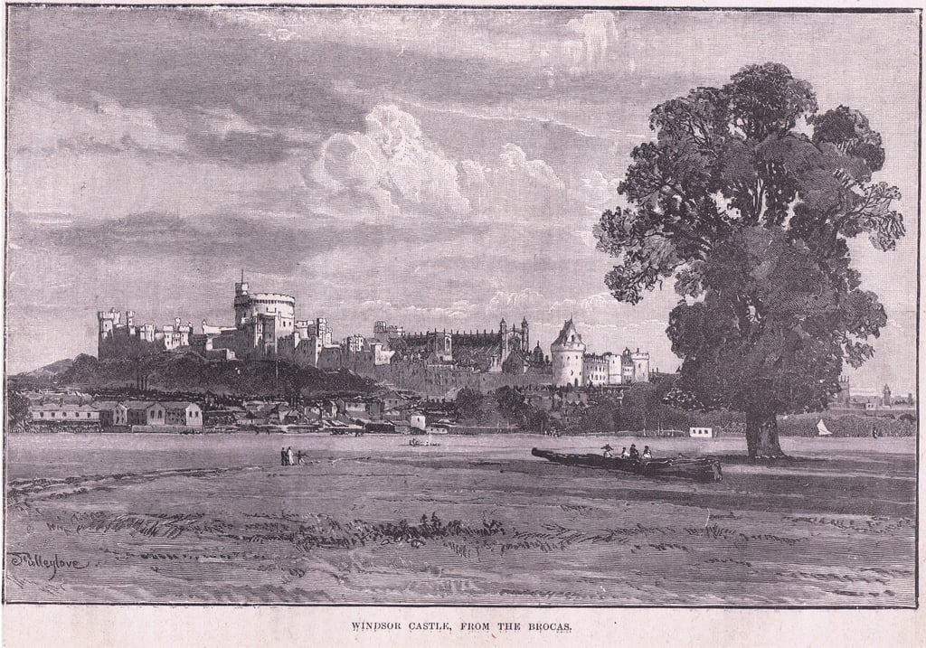 Windsor Castle from the Brocas  by John Fulleylove