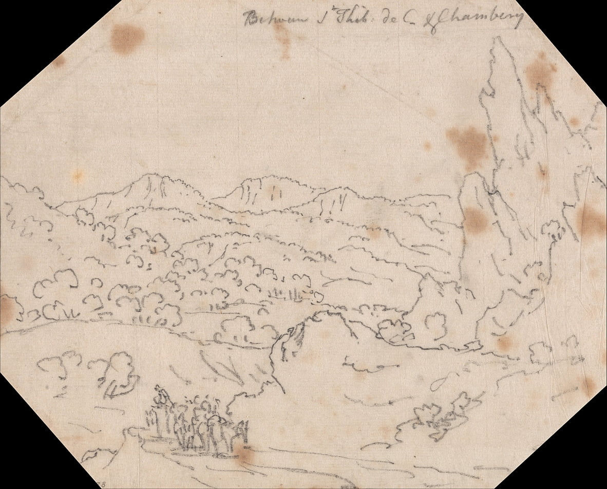 Between Saint-Thibaud-de-Couz and Chambery by John Robert Cozens