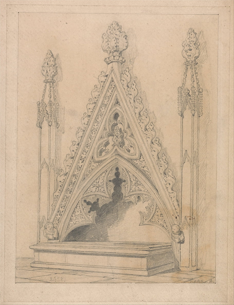 A Monument in Raveningham Church, Norfolk by John Sell Cotman